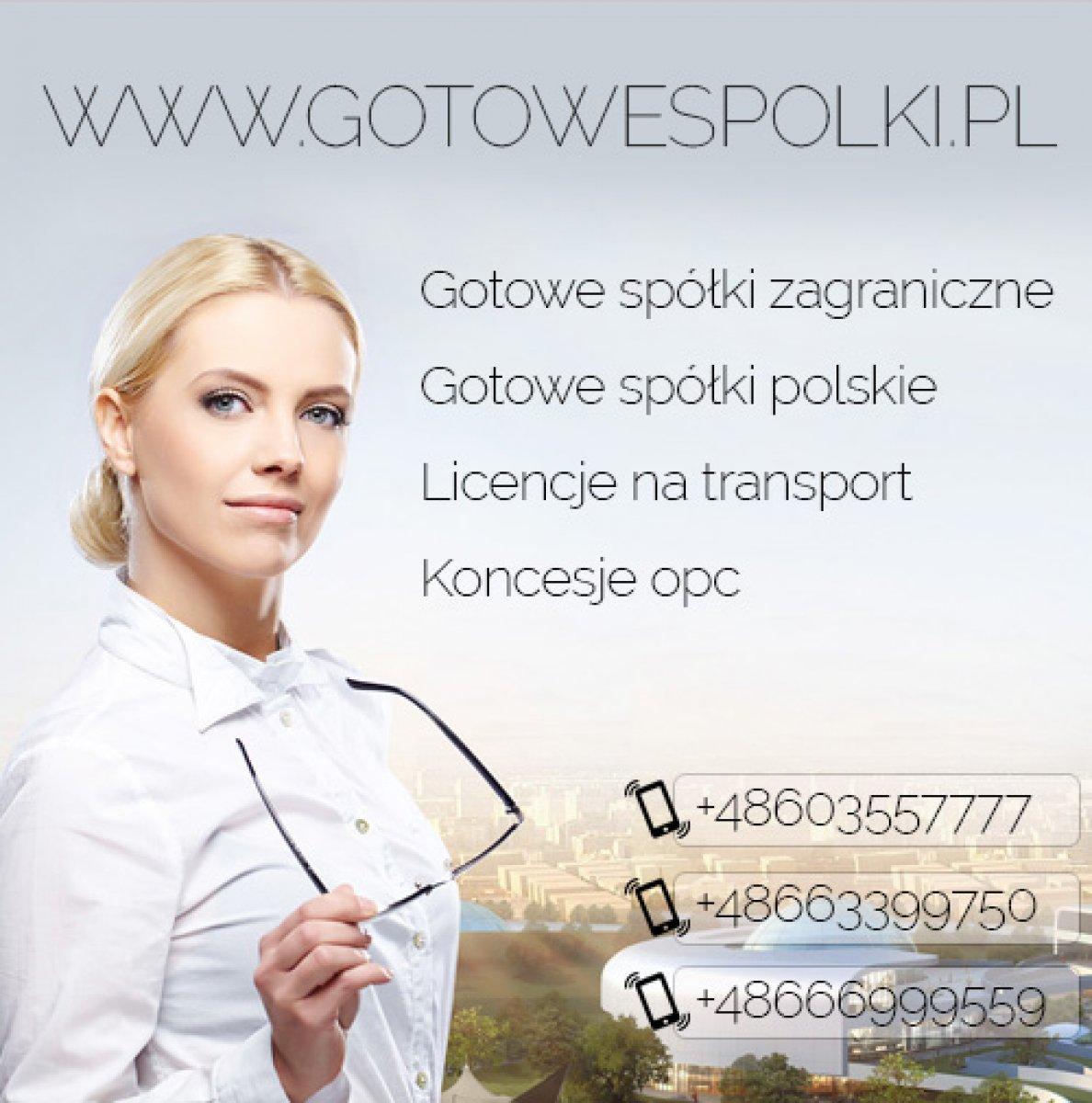 Gotowe Spółki Akcyjne z VAT EU 603557777 ,KONCESJA NA HANDEL PALIWAMI OPC, Gotowe Spółki z VAT EU, Gotowe Fundacje Cała Polska - 1
