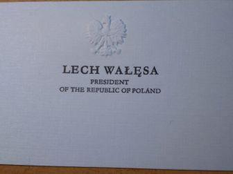 Wizytowka Prezydenta Lecha Walesy