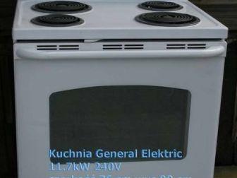 amerykańska kuchnia elektr GE szer 76 cm wersja europejska super
