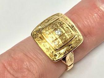 Złoty PIERŚCIONEK 18K SEKRETNIK Giftring BRYLANT