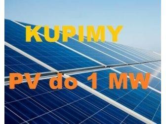 Kupimy kompletne instalacje PV do 1 MW